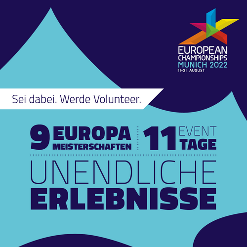 Jetzt als Volunteer für die Heim-EM 2022 in München bewerben!