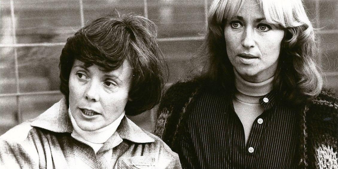 1960: Erika Fisch und Speerwerferin Christa Peters, Foto: Johr