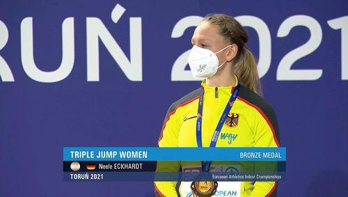 Neele Eckhardt gewinnt sensationell Bronze bei Hallen-EM