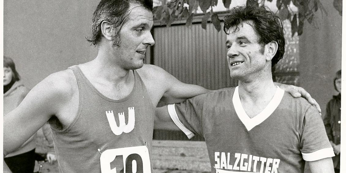 1972: Olympische Spiele München Geher Heinz Mayr und Gerhard Weidner vertreten Niedersachsen Foto: Johr